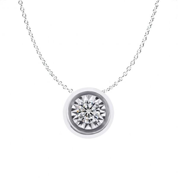 0.10CT Illusion Diamond Necklace