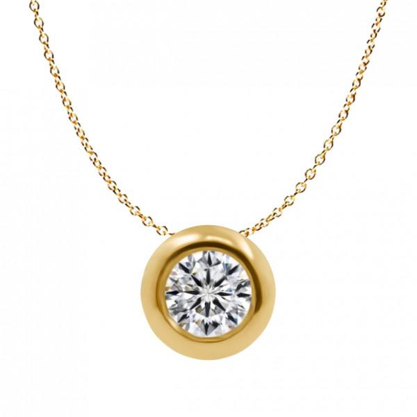 0.15CT Bubble Diamond Necklace