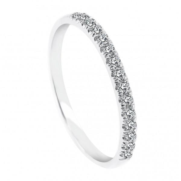 18K Gold 0.15CT  Eternity Diamond Ring