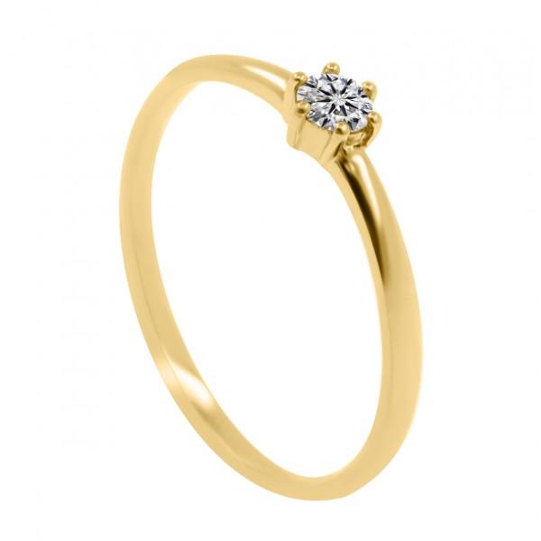 0.25CT Classic Six Prongs Diamond Ring