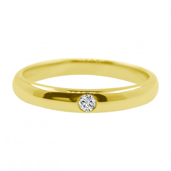 18K Gold 0.04CT Diamond Ring