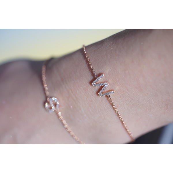 Alphabet Diamond Bracelet 15-16-17cm