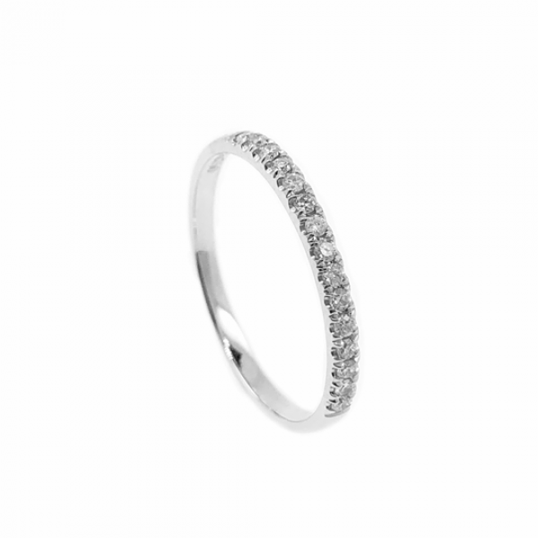 (PFDER17-DBLB) 18K Gold 0.17CT Eternity Diamond Ring