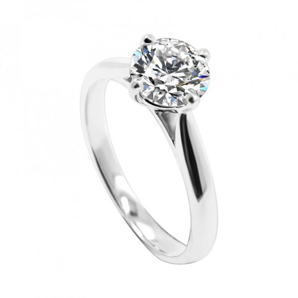 1.00CT D SI1+ 3EX NON Diamond Ring