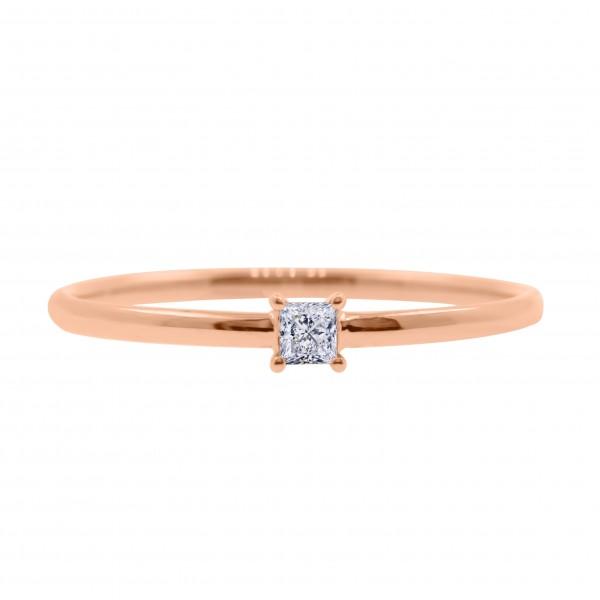 18K Mini Fancy Shape Diamond Ring