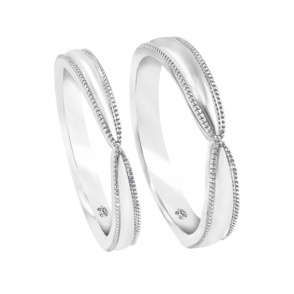 Infinity Milgrain Edge Wedding Rings