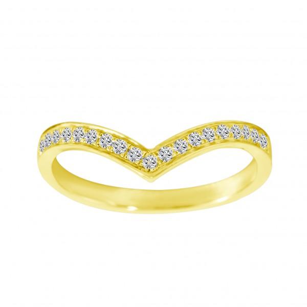 0.15CT V Shape Eternity Diamond Ring