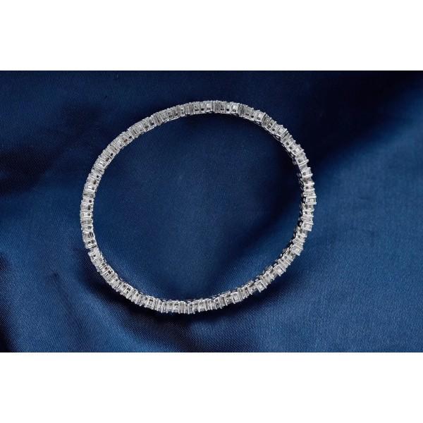 18K直方圓鑽不規則鑽石手鐲