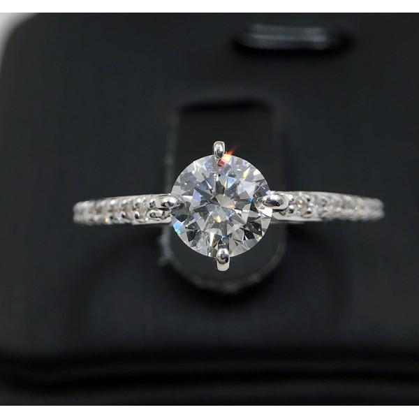 (PFDDRPSO11) 18K 1.00ct Gold Women Diamond Ring