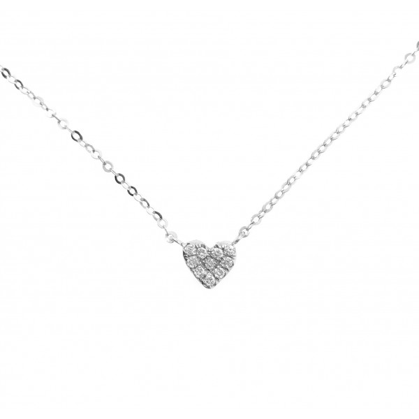 18K Heart Diamond Necklace